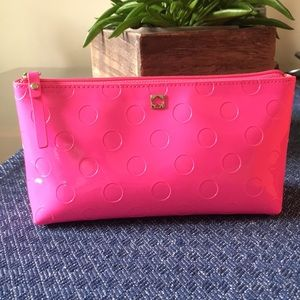 Kate Spade cosmetic bag great shape hot pink color